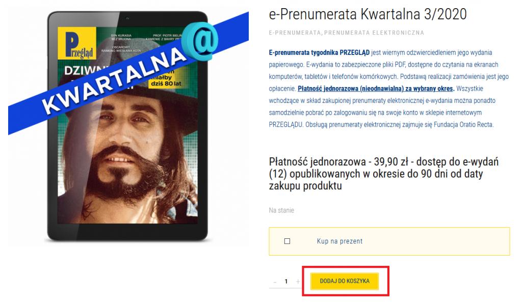 dodaj dokoszyka 1024x597 - Jak zamówić elektroniczną prenumeratę PRZEGLĄDU?,